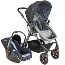 Travel System Galaxy - Preto e Grafite - Kiddo