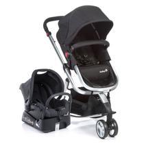 Travel System Mobi Black e Silver Carrinho de Bebê + Bebê Conforto - Safety 1st -