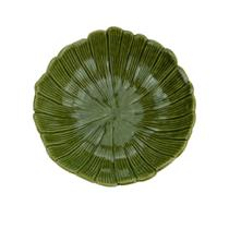 Travessa Folha Decorativa Banana Leaf Verde 25 cm - Lyor