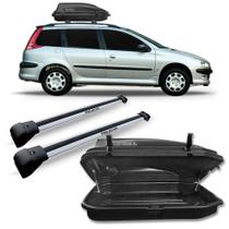 Travessa Teto Peugeot 206 207 Sw Prata + Baú 270 Litros - Sp Acessórios