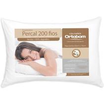 Travesseiro 100% Algodão 200 Fios Ortobom - 1 Unidade Macio - Barros Baby -