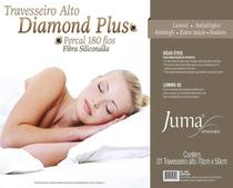 Travesseiro Alto Diamond Plus Percal 180 Fios