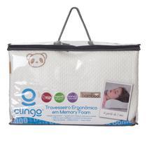 Travesseiro Ergonomico em Memory Foam Fibra de Bambu Clingo - Brasbaby