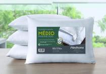 Travesseiro Hedrons Suporte Médio Maquinetado 50cm x 70cm -