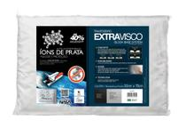 Travesseiro Nasa Alto Extra Visco Íons de Prata Antiácaro Fibrasca -