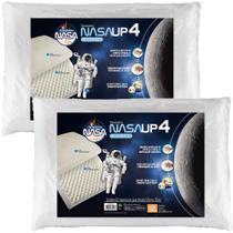 Travesseiro Nasa  Alto Up4  14cm Altura - Fibrasca- Kit c/2 -