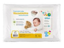 Travesseiro NASA baby Anti Sufocante Recém Nascido 0+ p/ fronha 30x40 com tecido percal 180fios Fibrasca -