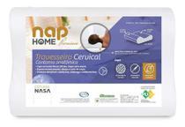 - Travesseiro Nasa Cervical Contorno Anatômico Premium Nap Antiácaro -
