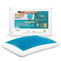 Travesseiro Nasa Refresh Gel Refrescante Nap Home Premium com Capa Impermeável em Percal 200 Fios -