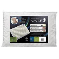 Travesseiro Nasa Up3 Viscoelástico com gomos massageadores, Antiácaro - Fibrasca -