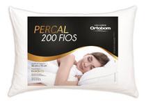 Travesseiro Ortobom Percal 200 Fios - 100% Algodão Lançamento -