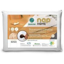 Travesseiro Ortopedico Cervical Nasa Premium Nap Home Capa Impermeável -