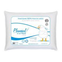 Travesseiro Pena De Ganso 45x65cm 233 Fios Branco Plumasul -
