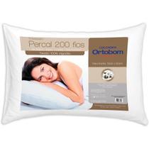 Travesseiro Percal com 200 Fios - Ortobom -