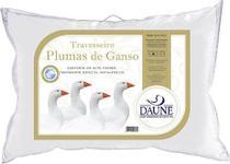 Travesseiro Plumas King 50x90 Daune - Percal 233 Fios - Branco -
