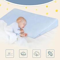 Travesseiro Rn Anti Refluxo Rampa Bebê AZUL - Click Tudo