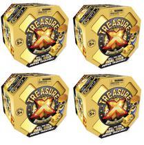 Treasure X Caça Ao Tesouro Surpresa Escava Ouro 4 Unidades - Dtc