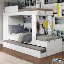 Treliche com Barra de Proteção Multimóveis para colchão 188 x 78 cm Branco -
