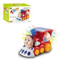 Trem Bate E Volta Com Som E Luz + Globo Giratório Infantil - toys