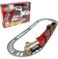 Trem / ferrorama classic train 12 pecas a pilha na caixa wellkids - Wellmix