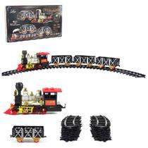 Trem Ferrorama Express Classico 20 Pecas Com Som E Luz A Pilha - Wellkids -