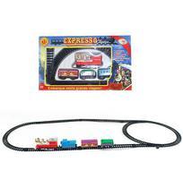 Trem / ferrorama expresso classico 8 pecas a corda na caixa wellkids - Wellmix