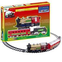 Trem Ferrorama Expresso Diversão Com 11 Peãas A Pilha - Wellmix