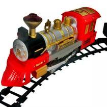 Trem Ferrorama Locomotiva Com Som E Luz A Pilha Braskit -