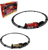 Trem / trenzinho ferrorama classic train com som e luz a pilha na caixa - Wellmix