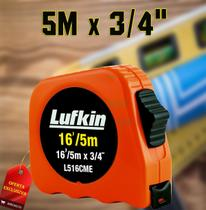 Trena Métrica de Bolso / Fita Verniz em Aço de 5 Metros 16/5m L516cme Lufkin -