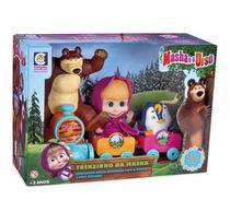Trenzinho Da Masha E O Urso Com Cabine E Vagões - Cotiplás -