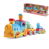 Trenzinho Infantil Brinquedo Bebê C/ Som Animais Samba Toys -