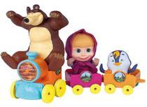 Trenzinho Masha com Urso e Pinguim - Cotiplas 2403 - Cotiplás