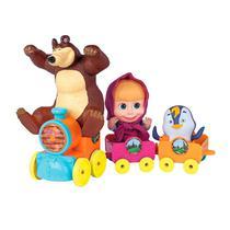 Trenzinho Masha e o Urso com Pinguin 2403 - Cotiplas -