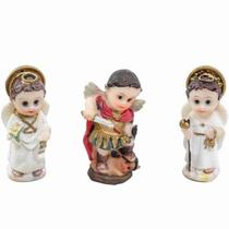 Três Arcanjos Infantil 4cm - Enfeite Resina - Tascoinport