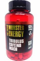 Tribulus, Cafeina, Maca, Pré-Treino Monster Energy  120caps  1000mg Ninho Verde -