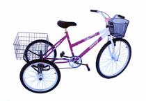 Triciclo adulto onix c/guidão poty pink -