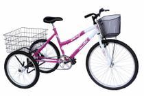 Triciclo adulto onix cor pink -