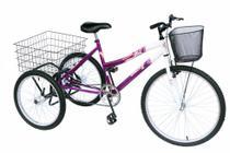 Triciclo adulto onix cor violeta -