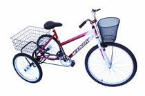 Triciclo adulto wendy c/guidão poty vermelho -