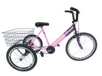 Triciclo aro 26 Floral Bicolor - Montagem SUPER - Valdo Bike