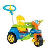 Triciclo Baby Trike Evolution Com Empurrador Azul Biemme -