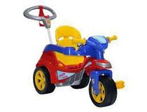Triciclo Baby Trike Evolution Com Empurrador Vermelho Biemme -
