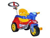 Triciclo Baby Trike Evolution Com Haste Direcionável Azul - Biemme