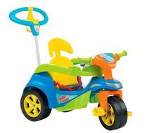 Triciclo Baby Trike Evolution Pedal c/ Empurrador Azul Biemme -