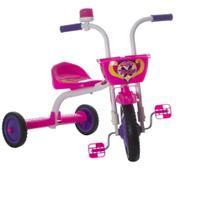 Triciclo Bicicleta Infantil Menina Ultra Bike Branco c/ Rosa - Ultra Bikes