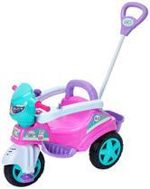 Triciclo Carrinho De Empurrar Com Haste E Pedal Maral Baby City Menina -