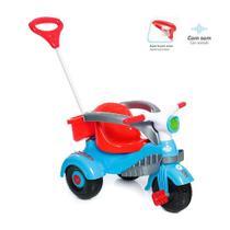 Triciclo Carrinho de Empurrar Velocita Classic Azul Calesita -