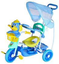 Triciclo Com Capota Cãozinho Azul - Belfix