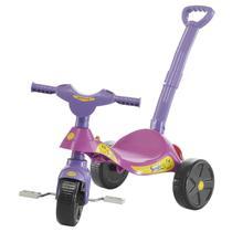 Triciclo Com Empurrador Biemme Smile Rosa E Lilás -